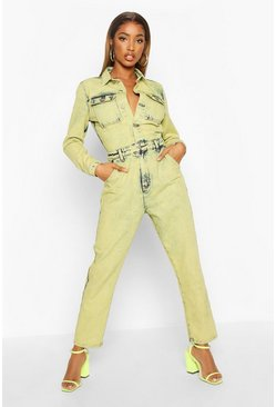 Lime Acid Wash Boilersuit