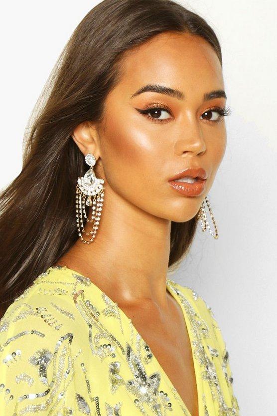 Statement Diamante Chandelier Earrings