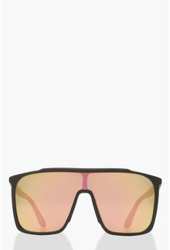 Matte Black Oversized Sunglasses