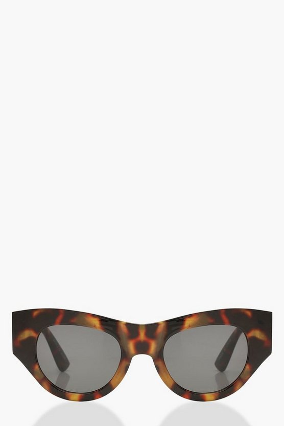Tortoiseshell Chunky Frame Sunglasses