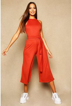 Spice Wide Leg Ribbed Culotte