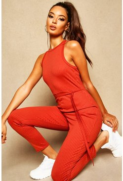 Womens Spice Racer Front Ribbed Unitard