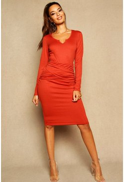 Spice Midi Ribbed Skirt