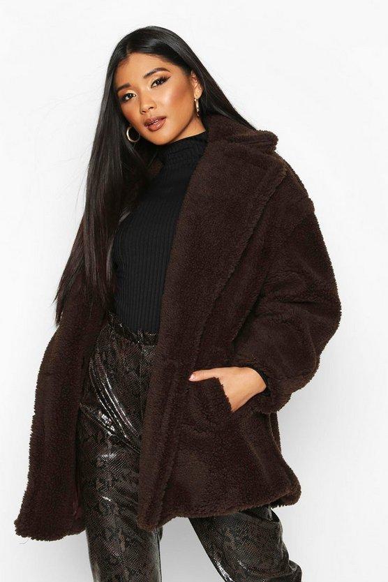 Oversized Teddy Faux Fur Jacket