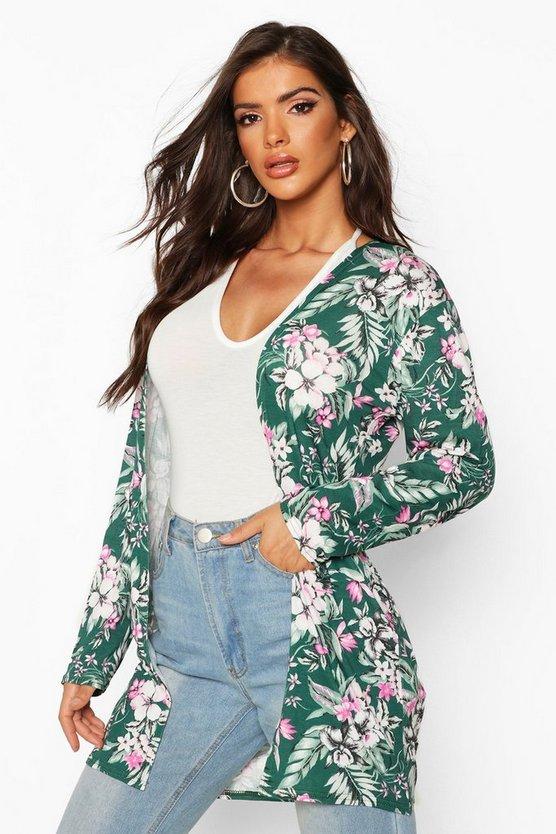 Floral Print Midi Kimono