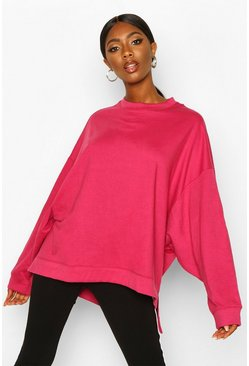 Womens Cerise Extreme Oversized Sweat
