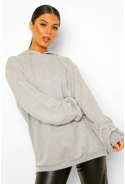 Womens Light grey Extreme Oversized Hoodie