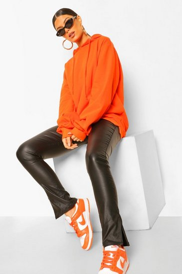 Womens Orange Extreme Oversized Hoodie