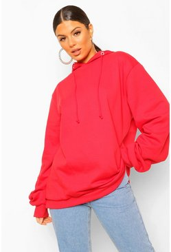 Red Extreme Oversized Hoodie