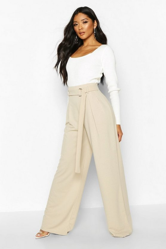 D-Ring Tailored Wide Leg Trousers