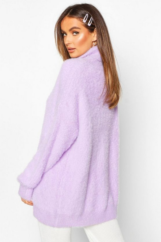 Oversized Fluffy Feather Knit Jumper