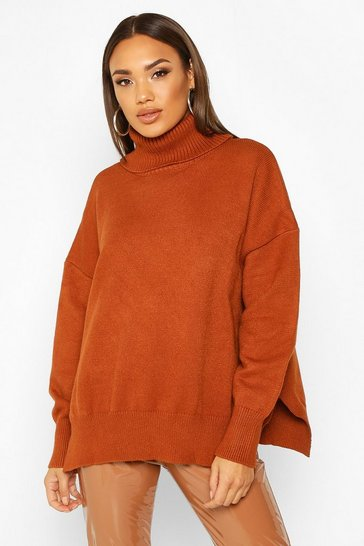 Toffee Premium Oversized Roll Neck Jumper