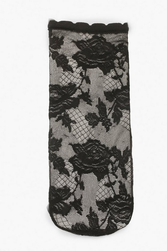 Lace Mesh Ankle Socks