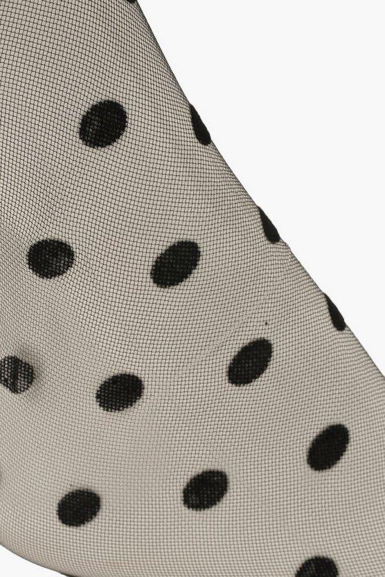 Mesh Polka Dot Ankle Socks