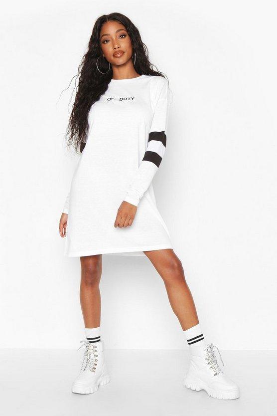 Sleeve Stripe Essentials T-Shirt Dress
