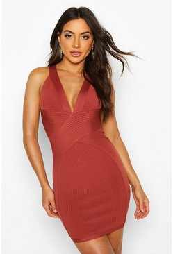 Terracotta Boutique Bandage Cross Front Mini Dress