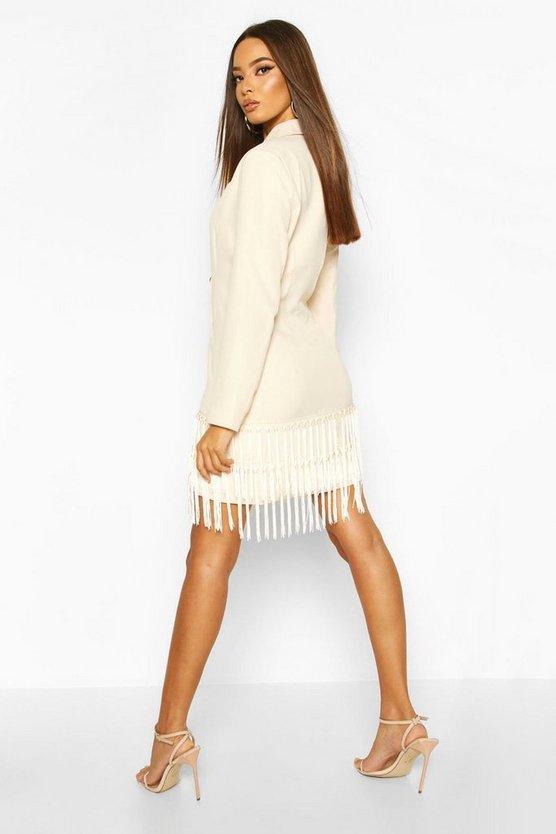 Oversized Tassle Blazer Dress