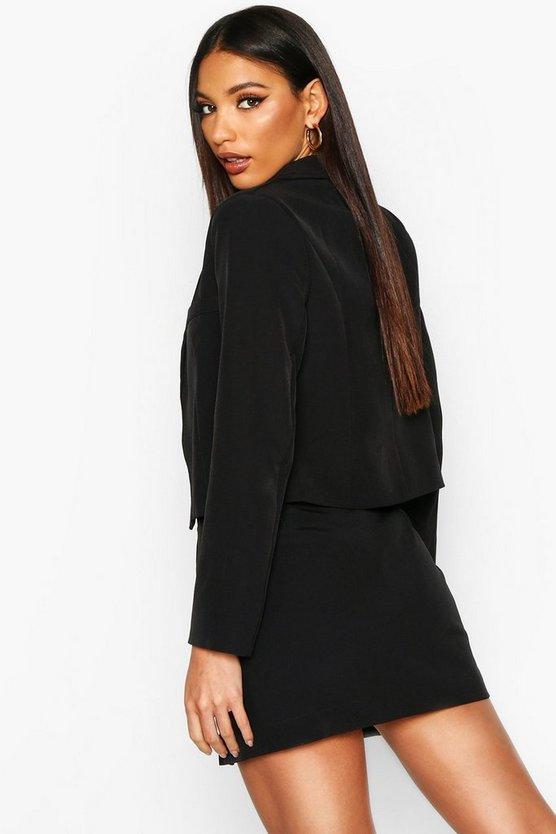 Button Front Tailored Mini Skirt