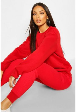 Red Basic Jogging Bottoms