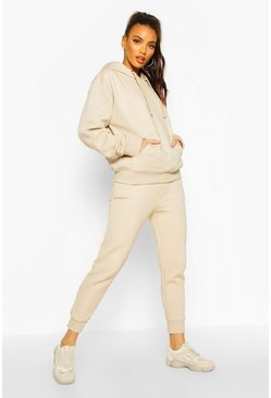 Womens Ecru Basic Jogging Bottoms