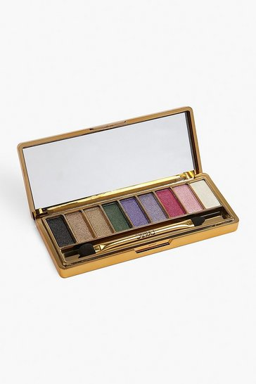 Womens Purple 9 Shade Gold Bar Shimmer Eye Shadow Palette - Vibrant