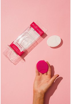 Womens Pink Brushworks Facial Cleansing Pads Duo