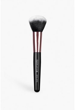 Womens Black Brushworks Blusher Brush Rose Gold