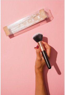 Brushworks Powder Brush Rose Gold, Black, Donna