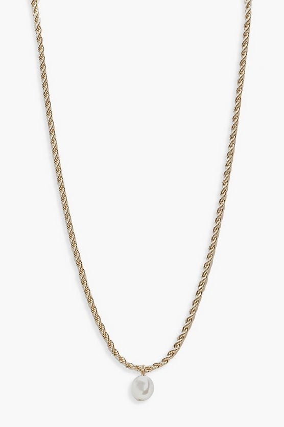 Pearl Twist Chain Necklace