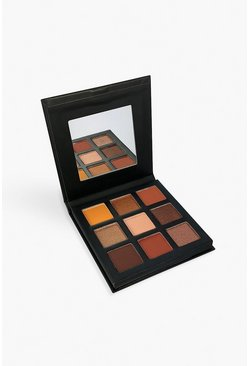 Womens Brown Technic 9 Shade Pigment Palette-Enticing