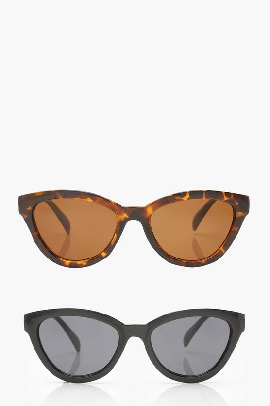 2 Pack Chunky Oversized Sunglasses