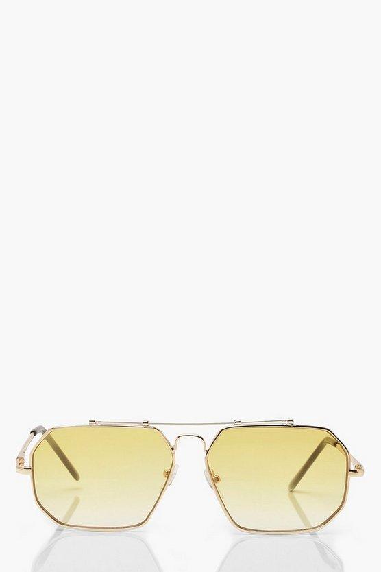 Fade Lens Vintage Oversized Sunglasses