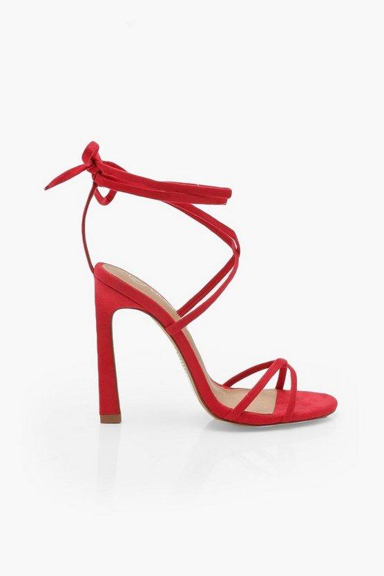 Ankle Wrap Stiletto Sandals