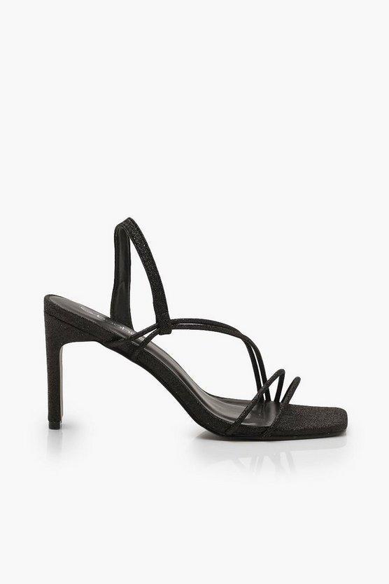 Glitter Low Heel Sandals