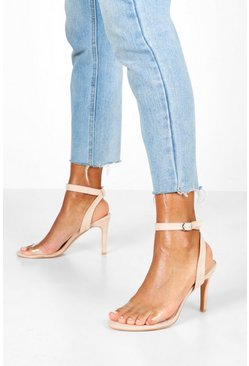 Nude Sandaletter med transparent band
