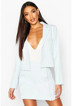 Mint Tailored Cropped Blazer