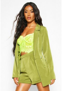 Forest Double Breasted Belted Blazer