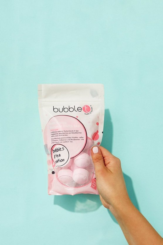 Womens Pink Bubble T Summer Fruits Bth Fizzies Pouch x 10