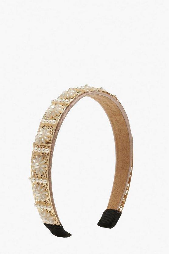 Premium Pearl & Bead Embellished Headband