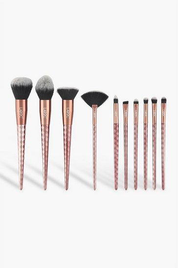Bronze LaRoc 10 Piece Rose Gold Diamond Brush Set
