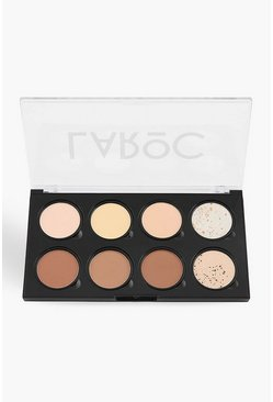 Womens Brown 8 Shade Powder Contour Palette