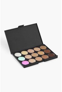 Womens Brown 15 Shade Colour Correct & Contour Palette