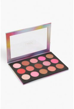 Womens Multi 15 Shade Bronze Face Palette-Peach Bellini