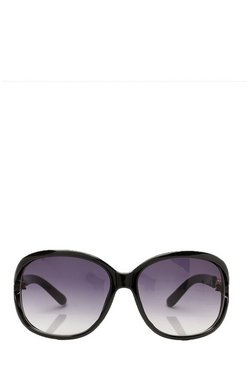 Dam Black Oversized Chain Arm Sunglasses