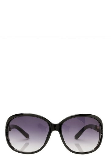Black Oversized Chain Arm Sunglasses