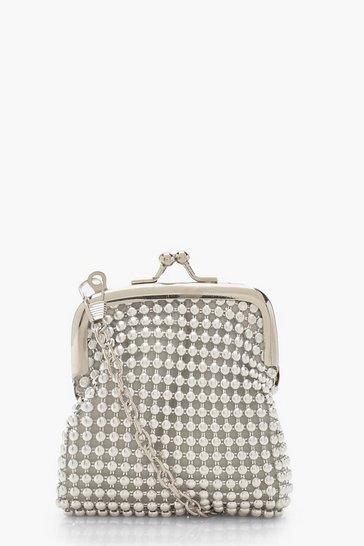5502167732eb85 Tiny Stud Penny Purse Bag & Chain