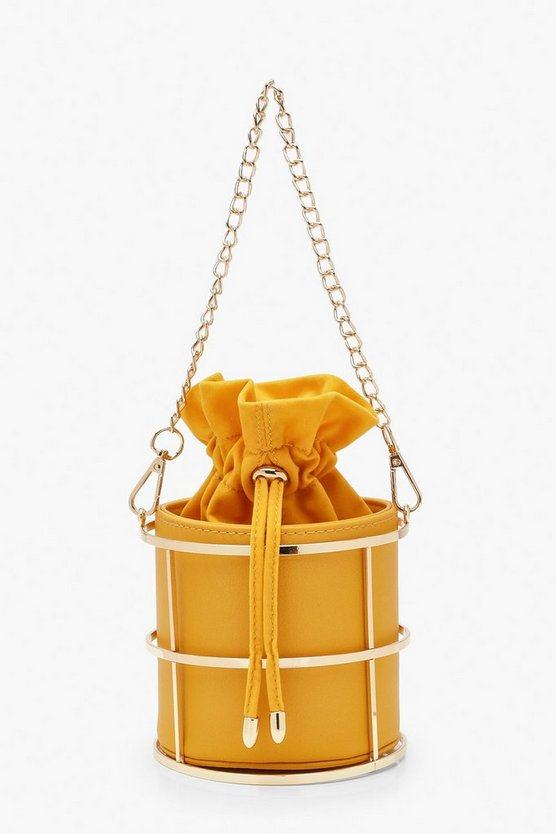 Metal Cage Duffle Mini Bag by Boohoo