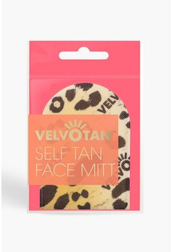 Womens Yellow Velvotan Self Tan Applicator Face Mitt
