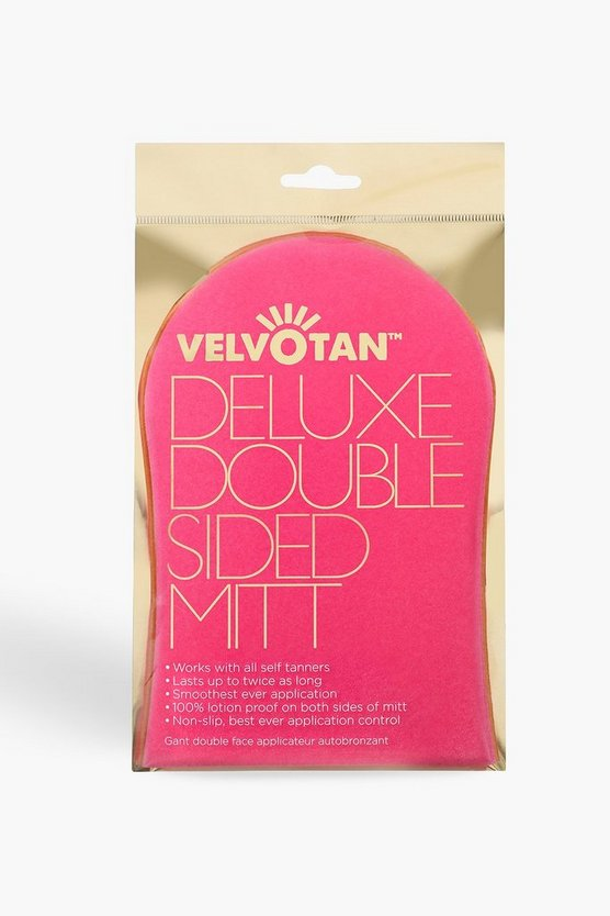 Womens Pink Velvotan Luxury Double Sized Mitt