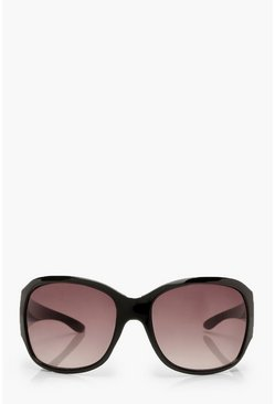 Dam Black Oversized Wrap Around Sunglasses